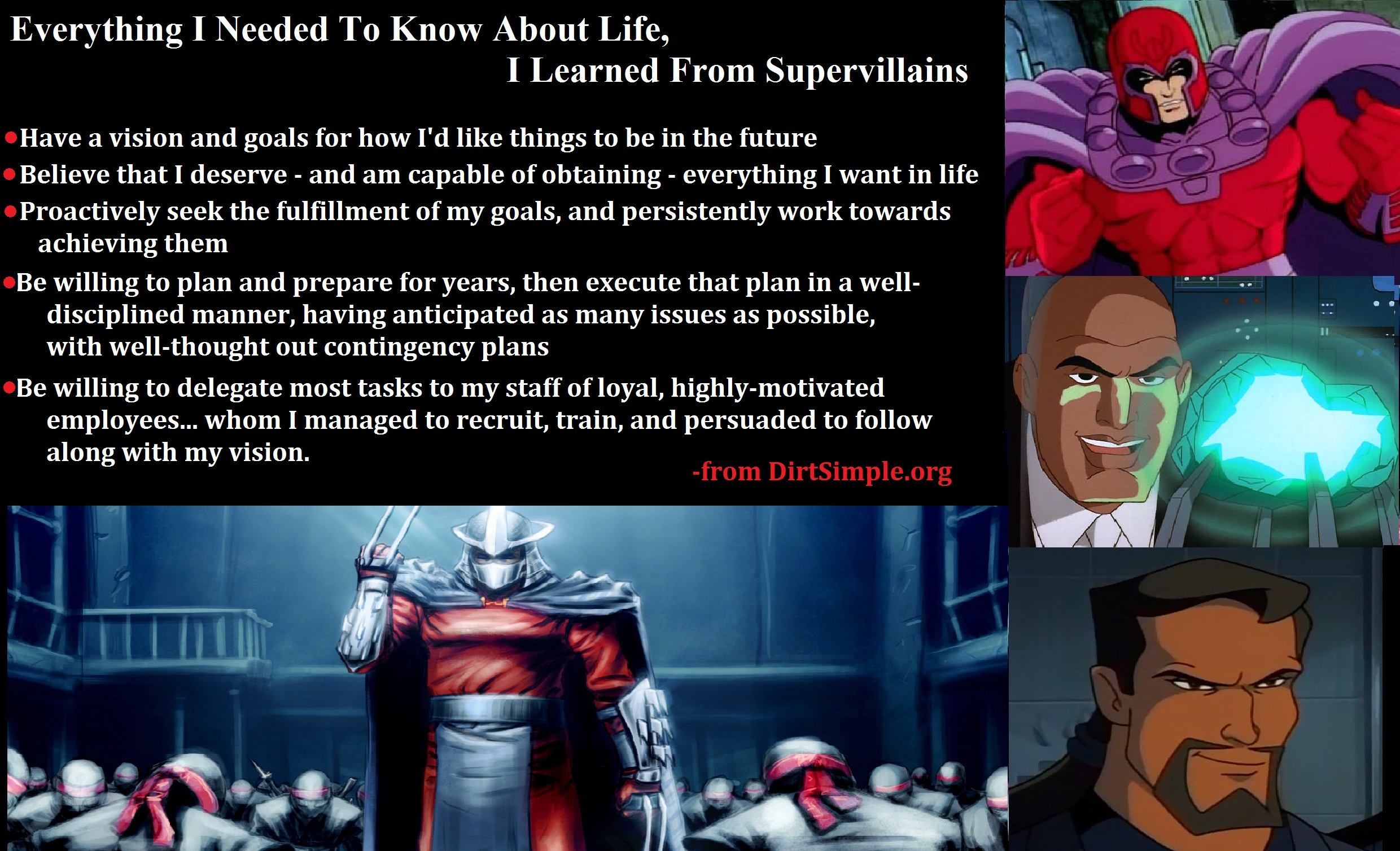 Learned From SuperVillians