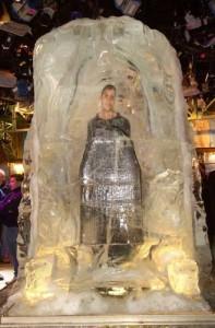 Illusionist David Blaine in Ice