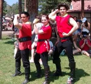 My first coplay (I'm the far-right Gaston)
