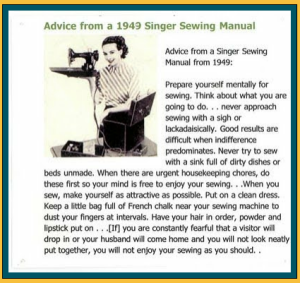 1949 Sewing Advice